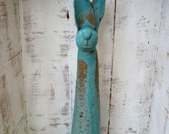 Quirky Ceramic animal, hand-made, pottery, garden sculpture, indoor/outdoor