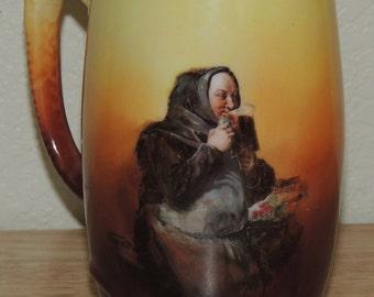 1898-1923 German Porcelain Monk Motif Mug
