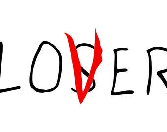 Loser lover decal etsy for Loser lover tattoo