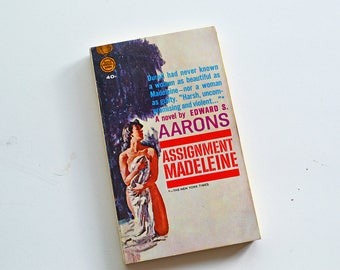 Assignment Madeleine by Edward S Aarons - Vintage 1958 First Edition Paperback Gold Medal Books by Fawcett Publications