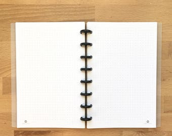 Dotted Grid Page - Planner - Organizer - Printed - Disc Bound Planner - Fits Circa, Arc - Junior - Half Page Size - 5.5 x 8.5 inches