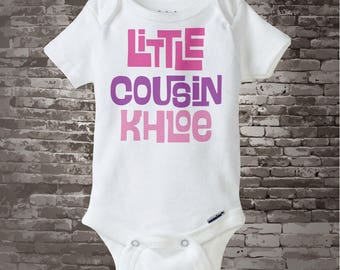 Little Cousin Onesie or Shirt, Personalized Little Cousin Shirt, Infant, Toddler or  Youth sizes t-shirt 04012014f