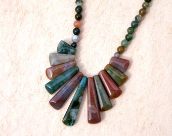 Indian Agate Beaded Necklace