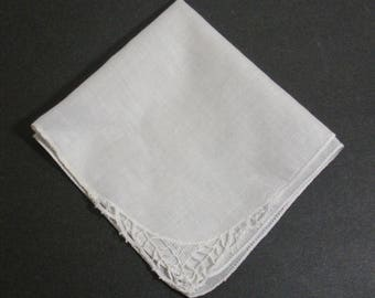 Vintage Wedding White Lace Corner Hanky