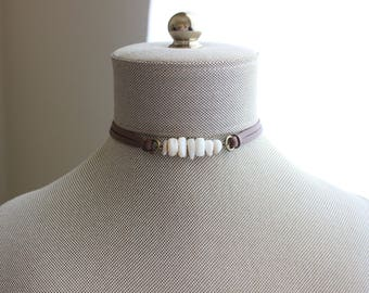 Shell Leather Choker. You choose leather color