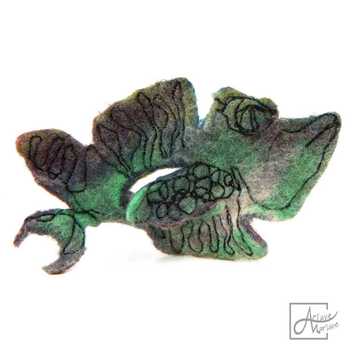 Felted fish brooch textile pin shark graphic design free for Fiber in fish