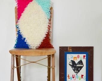 woodwoolstool harlequin patchwork pillow