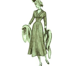 Late 1940s Princess Line Dinner Dress Pattern B36 Ringier 18019