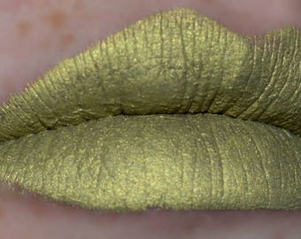 ALCHEMY Matte Metallic Liquid Lipstick Cool Gold Shade