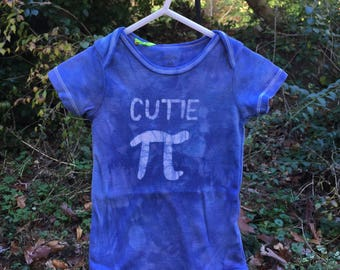 Pi Day Baby Bodysuit, Blue Pi Day Bodysuit, Cutie Pi Baby Bodysuit, Boy Pi Day Bodysuit, Girl Pi Day Bodysuit, Math Baby Gift (12 months)