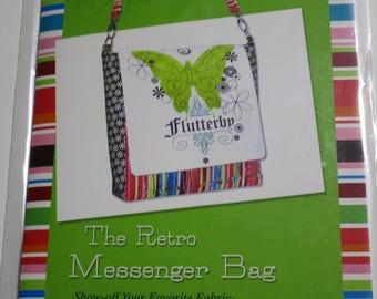 RETRO MESSENGER BAG Crossbody Purse Handbag Ellen Medlock Sewing Pattern #107