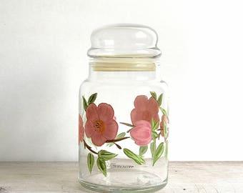 Franciscan Desert Rose Glass Canister Kitchen Storage