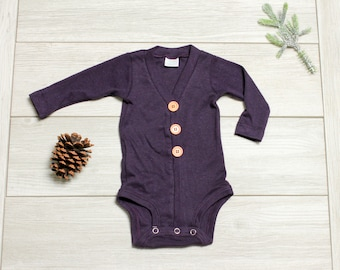 Purple baby cardigan | Etsy