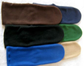 Men's Warm Fleece Socks, Black Blue Beige Socks for Men, Handmade Gifts for Men, Soft Cozy Bed Socks, Boot Liner Fleece Socks,