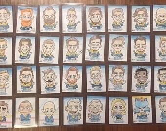 The ENTIRE 2017 Nashville Predators Hockey Roster— complete set of 32 WATERCOLOR Sketch Cards — ACEO original art