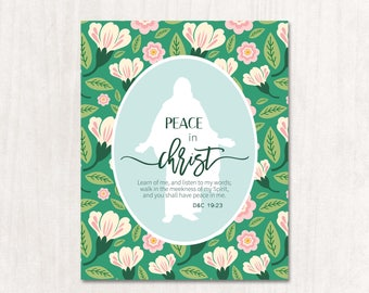 2018 LDS Mutual Theme-Peace in Christ-Young Women-Printable-LDS-Mormon-Download-Personal Progress-New Beginnings-Young Women in Excellence