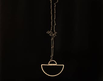 CIVAL Collective - Fennic   Necklace   Minimalist Brass Arc   Mod   Simple Basic   Layering Necklace   Dainty Jewelry   Everyday Wear   Gift