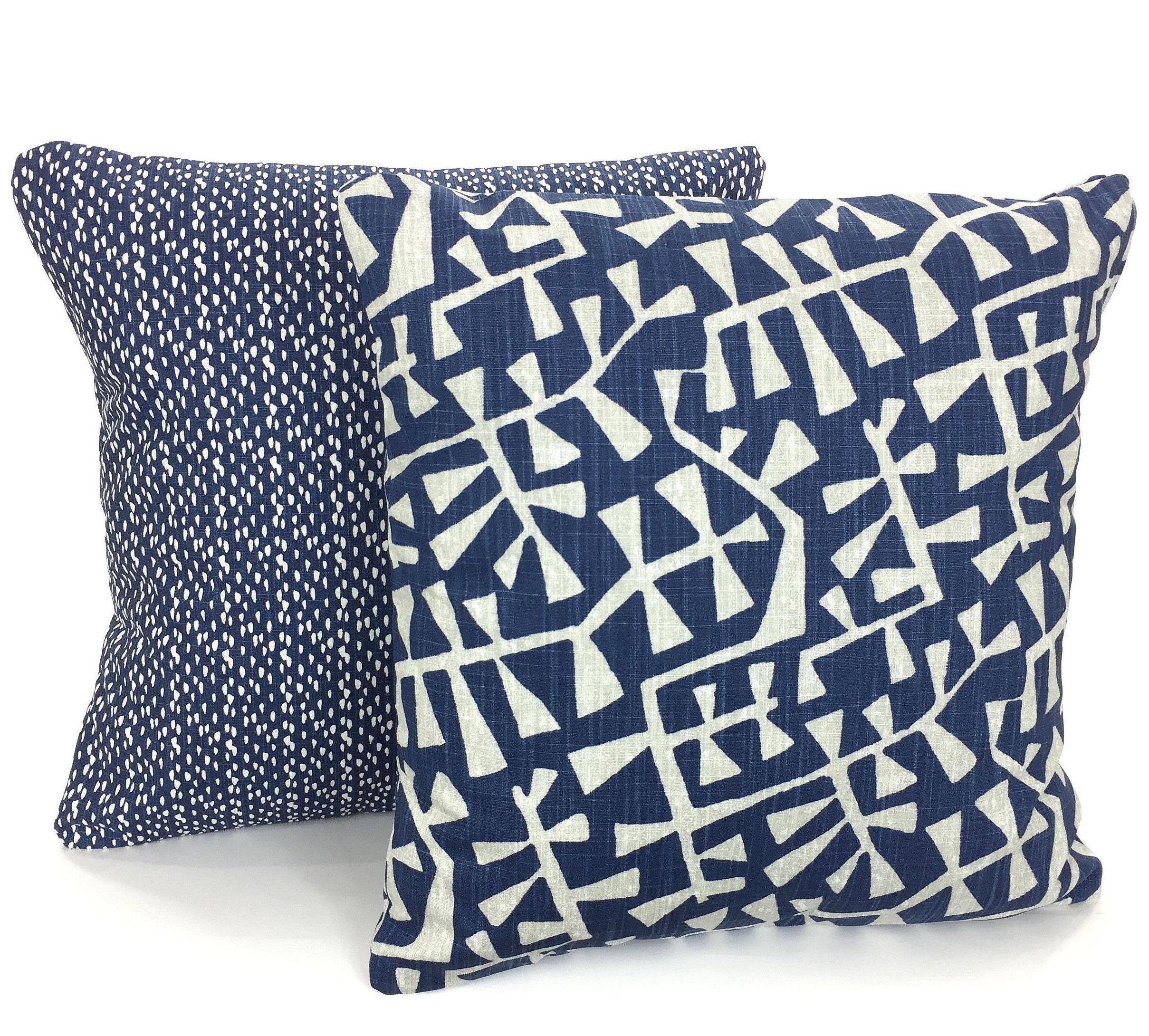 Pillow Covers Blue Gray White Decorative Throw Pillows Cushion