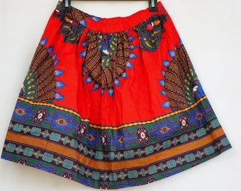 Vintage Homemade Mexican Short Wide Skirt/Boho/Bohemian Chic/Ethnic/Hippie