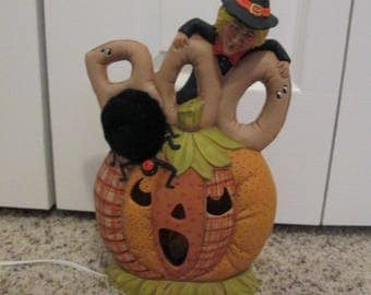 BOO PUMPKIN and WITCH,  Lighted