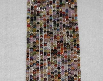 Zircon, Multicolor Zircon, Faceted Bead, Semi Precious, Sparkle, Spacer,  Strand 3mm