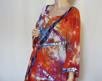 1X to 2X  Ice Dyed Tunic
