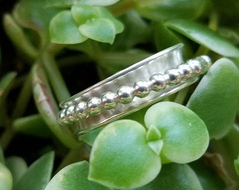 Beaded Spinner Ring