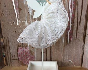 Blythe white lace skirt