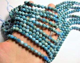 Blue Apatite - 8mm round beads - Full strand - 49 beads - Apatite -  RFG1285
