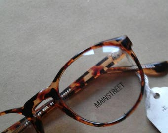 Tortoise Shell Frames | 90s vintage round secretary librarian professional vintage rx deadstock plastic geek chic glasses MAINSTREET unisex