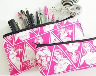 pencil pouch -- DC Comics | Wonder Woman [CHOOSE a SIZE!]