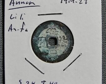 Annam (Vietnam) Li Li An Fa 1414-26 AD, Cash Coin (e)