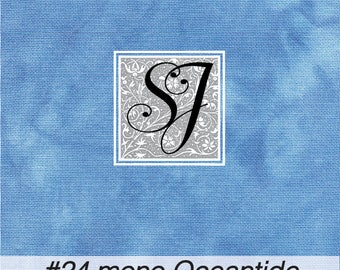 OCEANTIDE hand tie dyed Needlepoint Canvas #24 CONGRESS 17x23