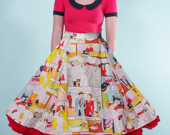 Good Housekeeping Comic Book Starla Flared Skirt