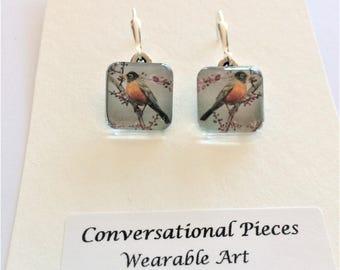 Robin Bird Earrings