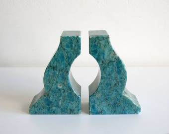 Turquoise Granite Bookends