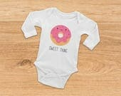 Gift for Baby, Coming Home Outfit, Donut Onesie, Donut Baby Onesie, Funny Onesie, Baby Shower Gift, Funny Baby Onesie, Baby Girl Onesie,