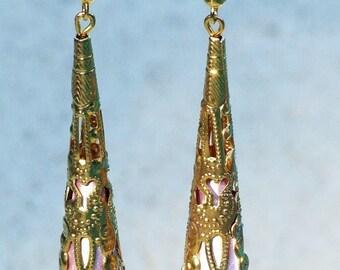 Pink Oriental Inspired Earrings