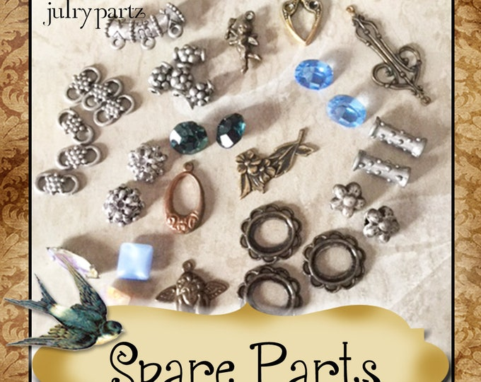 SPARE PARTS•Earring Parts•Necklace Parts•Vintage Components•Set 14