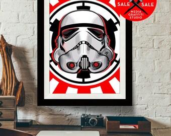 """Star Wars Art - SALE! 18""""X24"""" - Stormtrooper - Star Wars Poster, Art Print, Stormtrooper print, Fan Art, Star Wars Print, Star Wars Gift"""