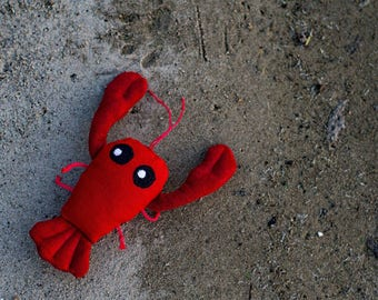 Lobster Cat Toy filled with Organic Catnip
