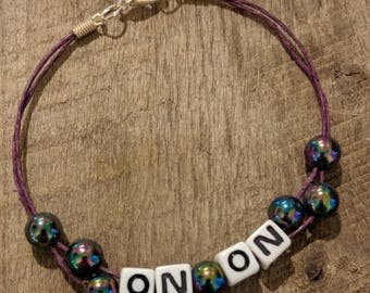 Purple Hemp ON ON Bracelet