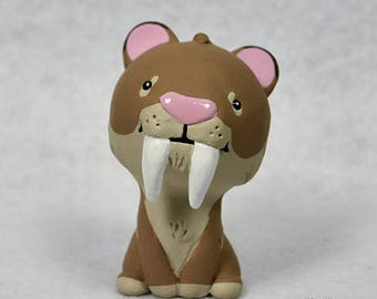 Hand Sculpted Smilodon Derp Figurine