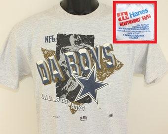 Dallas Cowboys Da Boys vintage youth t-shirt kids' XL light gray flecked 90s 1993