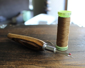 Seam Ripper, Seamstress, Gifts for Sewers, Sewing Tools, Zebrawood, Chrome, Gifts for Quilters, Wood Turned, Wood Turning,