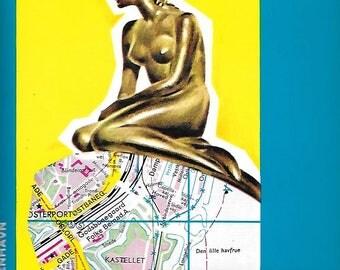 Vintage 1980's Travel Falk Plan Road Maps - CopenHagen