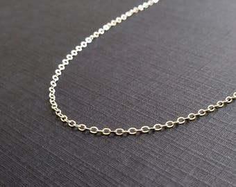 BASIC - 18 Inch Chain - Sterling Silver Chain - Silver Necklace Chain - Cable Chain Necklace - Finished Chains - Simple Necklace