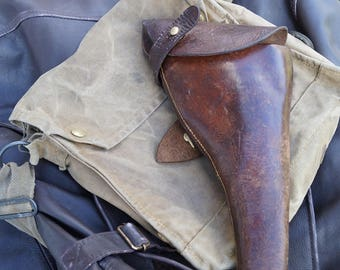 INDY JONES Indiana WW1  The Great War Leather holster  1915 Webley pistol Revolver holster