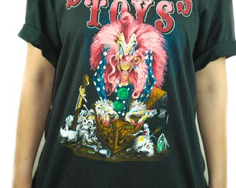 Vintage DANGEROUS TOYS shirt 1989 Sporting A Woody Concert shirt Band Tee XL