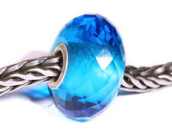 Gemstones by Anne Meiborg - Artisan europian charm bead -  small core - BHB big hole - Blue Quartz - 07544
